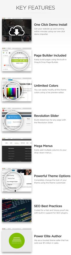 Orise Store  Multi-Purpose WooCommerce Theme (WooCommerce)  Show off your work with this easy-to-customize and full featured WordPress Theme. When purchasing this theme you will receive a detailed help file along with additional features like Wishlists and a Drag/Drop Page Builder.  Key Features  Page Builder Included ($34 Value)  Easily build your pages with the Visual Composer page builder  Slider Revolution Included ($19 Value)  Easily build slideshows for any page using the Revolution…