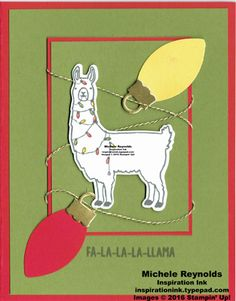 Fa-la-la-la Friends Tangled Llama by Michelerey - Cards and Paper Crafts at Splitcoaststampers Create Christmas Cards, Xmas Cards, Diy Cards, Watercolor Pencils Techniques, Types Of Pencils, Cardmaking And Papercraft, Alpacas, Animal Cards, Punch Art