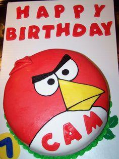 Angry Birds birthday cake Angry Birds Birthday Cake, Bird Birthday Parties, 8th Birthday, Birthday Cakes, Birthday Ideas, Cake Decorating, Decorating Ideas, Army Mom, Childrens Party