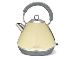 Shop Online for Morphy Richards 102005 Morphy Richards Accents Traditional Pyramid Kettle - White and more at The Good Guys. Find bargain buys and bonus offers from Australia's leading electrical & home appliance store. White Appliances, Small Kitchen Appliances, Traditional Kettles, Kettle And Toaster, Thing 1, Kitchenaid, The Originals, Retro, Electric Kettles