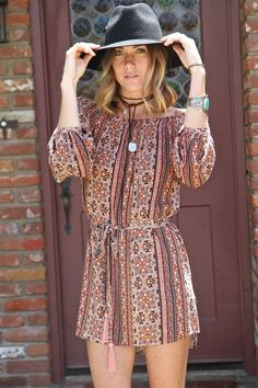 Fall colors in the Avery Dress 36.50 http://www.shopelisonrd.com/shop/dresses/avery-off-the-shoulder-dress/