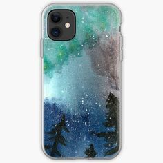 Iphone 5s, Iphone Cases, Wilderness, Aurora, Northern Lights, Outdoors, Illustration, Artist, Artwork