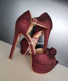 26d9aa8b1 👠Sandália salto alto meia pata 13cm, MARSALA com solado FLORAL. Disponível  também na cor BRANCA. #weekshoes #saltoalto #shoes #calçados #sapatos  #marsala ...