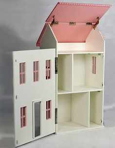 free doll house design plans | Wooden Doll House Plan, Double ...