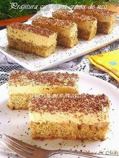 Coffee and walnut cake - Culorile din Farfurie Sweets Recipes, Easy Desserts, Cake Recipes, Coffee And Walnut Cake, Romanian Desserts, Bulgarian Recipes, Dessert Buffet, Banana Bread Recipes, Savoury Cake