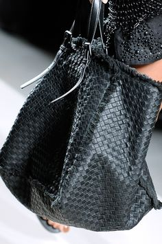 "bottega veneta. Gorgeous!! Hand woven - a lot of ""copycats"" out there. Imitation is the sincerest form of flattery."