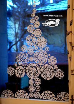 Paper Snowflake Tree