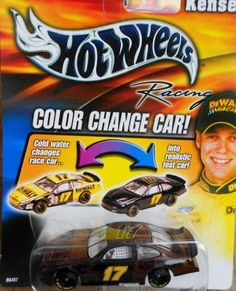 HOT WHEELS RACING NASCAR COLOR CHANGE CAR #17 MATT KENSETH FREE SHIPPING!!