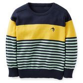 A great layering piece, this striped crew neck sweater looks so cute for Easter … – baby sweaters Baby Outfits, Toddler Outfits, Kids Outfits, Baby Boy Tops, Carters Baby Boys, Baby Boy Knitting Patterns, Knitting For Kids, Knit Baby Sweaters, Boys Sweaters