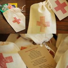Cute idea to put in welcome bags