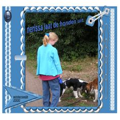 Nerissa laat de honden uit
