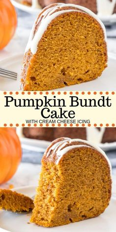 Pumpkin Bundt Cake Hands down - the best pumpkin cake you'll ever try! This moist pumpkin bundt cake has a delicious pumpkin flavor, is filled with warm spices, and topped with a drizzle of cream cheese glaze. Way easier than making pumpkin pie - it's the Cream Cheese Glaze, Cake With Cream Cheese, Cream Cheese Pumpkin Pie, Sour Cream Cake, Food Cakes, Fall Desserts, Dessert Recipes, Delicious Desserts, Desserts For Thanksgiving