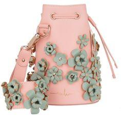 aad4ac7422 Marina Hoermanseder Shoulder Bag - Kasper Flower Bucket Bag Rosa - in rose  - Shoulder Bag for ladies