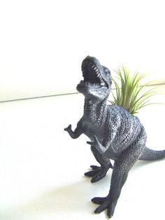 Airplant Planter Black  TRex by MisfitMenagerie on Etsy, $12.00