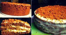 Очень вкусный торт. Рецепт достоин вашего внимания! Бисквитный-торт-медовый Ингредиенты –(для формы 20 см. в диаметре) –3 яйца (комнатной t) –1/2 cтакана сахара –4 ст. ложки меда (если мед густой, то- без горки!) –1 ч. ложка соды –1 стакан муки (мне понадобилось 150 г.) Для заварного крема. –1 яйцо –100 г. сахара –1 ст. ложка муки –250 мл. молока –100 г. сл. масла Приготовление 1. Сахар взбить с яйцами до образования пышной, белой массы. 2. Мед переложить в кастрюльку с толстым дном и… Pudding, Snacks, Tiramisu, Food And Drink, Ethnic Recipes, Desserts, Honey, Sugar, Budget Cooking