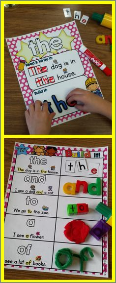 Picture-supported sight word mats for centers, guided reading, small-group/individual practice, etc. Perfect for RTI!