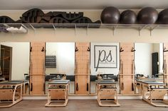 At The Pilates Studio, we integrate all of the traditional and modern Pilates eq. - At The Pilates Studio, we integrate all of the traditional and modern Pilates equipment into our se - Pilates Workout, Le Pilates, Pilates Reformer, Cardio Workouts, Yoga Studio Design, Gym Design, Pilates Studio, Wellness Studio, Fitness Studio