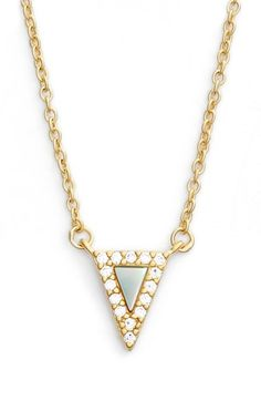 Freida Rothman 'Visionary' Small Triangle Pendant Necklace available at #Nordstrom