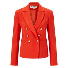 Buy Miss Selfridge Military Blazer, Poppy Red Online at johnlewis.com