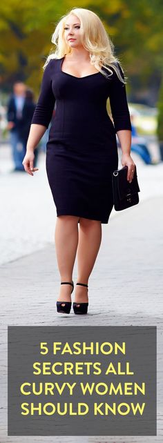 5 fashion secrets all curvy women should know, she looks gorgeous!