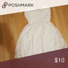 Dress Strapless White Floral Sweetheart Dress Dresses Strapless
