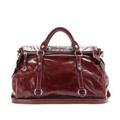 mytheresa.com - Bow glazed leather tote - Luxury Fashion for Women / Designer clothing, shoes, bags