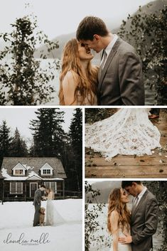 Claudia Noelle Photography took these stunning elopement photos! Creative Couples Photography, Intimate Photography, Outdoor Wedding Photography, Emotional Photography, Winter Wedding Flowers, Winter Weddings, Washington Beaches, Standing In The Rain, National Parks