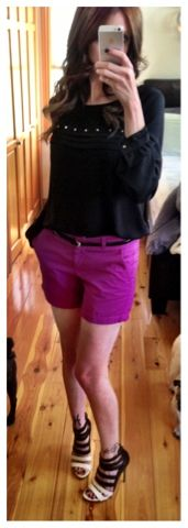 Shorts and heels.