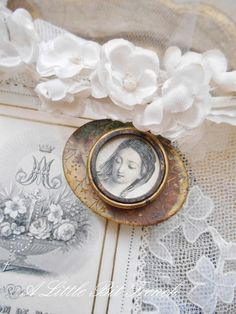 to yours Lately, I've felt that pull again and found myself reaching for my religious pieces tarnished vint. Romantic Cottage, Shabby Cottage, Shabby Chic, French Decor, French Country Decorating, Raindrops And Roses, French Style Homes, Country Farmhouse Decor, French Farmhouse