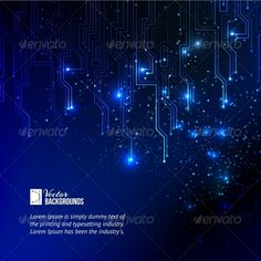 Abstract Blue Lights Background.  #GraphicRiver         Abstract blue lights background. Vector illustration, contains tra