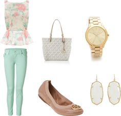 mint outfit inspiration board