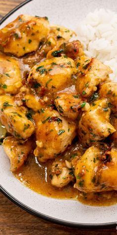 Chicken Skillet Recipes, Garlic Chicken Recipes, Meat Recipes, Asian Recipes, Appetizer Recipes, Cooking Recipes, Healthy Recipes, Turkey Recipes, Recipies