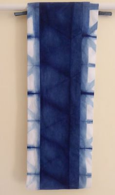Natural indigo cotton infinity scarf hand-dyed by TextileBlue