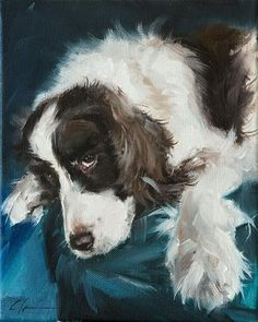"""Daily Paintworks - """"PAINT MY DOG - Star Puppy"""" by Clair Hartmann"""