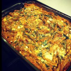 Baked ricotta and spinach pasta #healthy #recipe