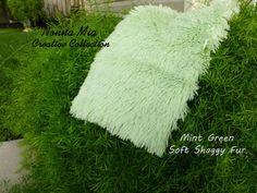 Super Soft Shaggy Fur   Mint Green- - - - - - - Newborn and Baby Photography Prop