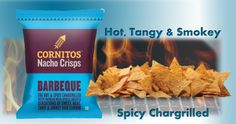 Cornitos - Hot, Tangy, Smokey, Spicy Char-grilled Barbeque Flavor.