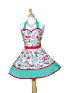 Retro Apron Sweetheart Apron / Womens Aprons by enchiladamama, $37.50