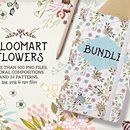 Flowers Bundle: 500+ Floral Compositions and 34 Patterns - $19!