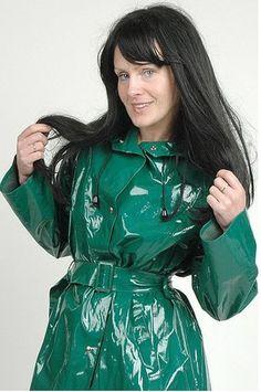 Green PVC Raincoat