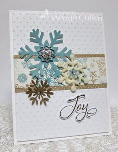 Card by Wanda Cullen using Merry Wishes from Verve.  #vervestamps