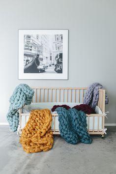 Chunky blankets from www.woollie.se