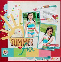 #papercraft #scrapbook #layout. Summer Fun by Greta Hammond - Scrapbook.com