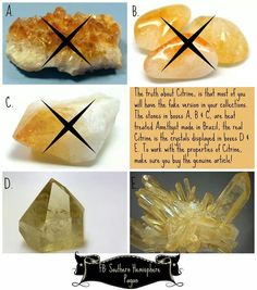 Fake citrine can be used in the place of real, though it's energies are not as potent. The real stuff can be expensive, so if the heat treated is what you can afford, than go with it. Crystals Minerals, Rocks And Minerals, Crystals And Gemstones, Stones And Crystals, Citrine Crystal, Crystal Grid, Crystal Magic, All Things Crystal, Himalayan Salt Crystals