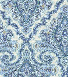 Home Decor Print Fabric-Waverly Anatalya/Aegean For covering chairs