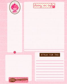 Sweetly Scrapped: Art Journal Printable Pages, Cards and File Folders