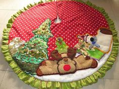 trees covered in green coconut on this gingerbread house. Gingerbread House Designs, Gingerbread House Parties, Gingerbread Village, Christmas Gingerbread House, Gingerbread Man, Gingerbread Cookies, Christmas Goodies, Christmas Treats, Christmas Time