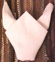 The Bull Napkin fold