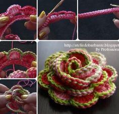 3D Crochet Roses Pattern