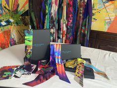 CLARE OCONNOR Luxury Irish Design, Luxury Silk Scarves, Bespoke packaging, Gift Ideas Irish Design, All Design, Vibrant Colors, Colours, Scarf Design, Cashmere Scarf, Silk Scarves, Wearable Art, Luxury Branding